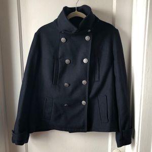 EUC Gap navy wool blend jacket